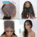 8А 360 Кружева Фронтальная Закрытие С Пучками Бразильского Виргинские Человека Волны волос на Теле Переплетения С Полным 360 Фронтальной Группы Природных волосяного покрова