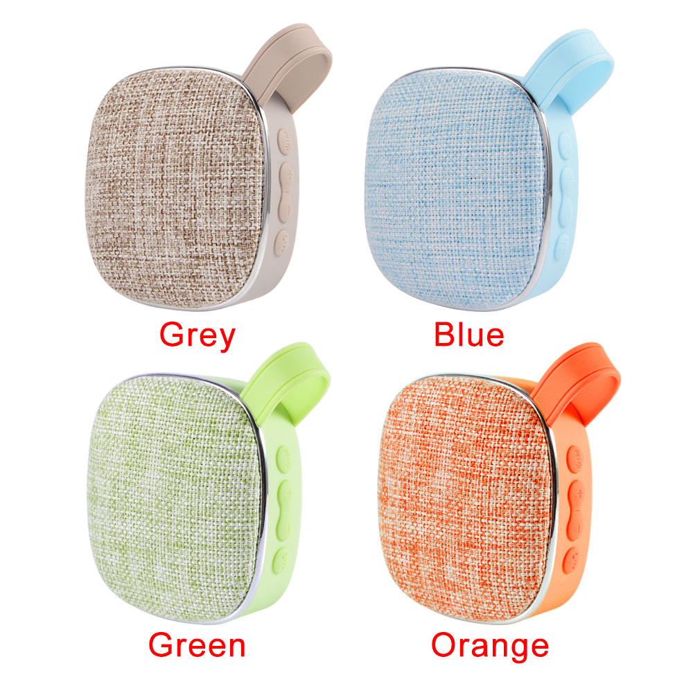 x25 Fabric art Wireless Bluetooth Speaker waterproof mini audio Portable outdoor speaker support TF card subwoofer 3W