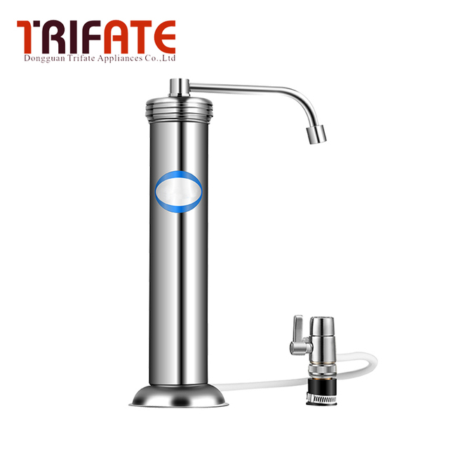 Stainless steel shell faucet mounted water purifier descaling easy ...