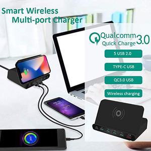 Image 3 - Uniwersalna bezprzewodowa ładowarka Qi 60W dla iphonea Ipad Samsung Tablet z androidem 7 W 1 szybki 3.0 szybki uchwyt do ładowania