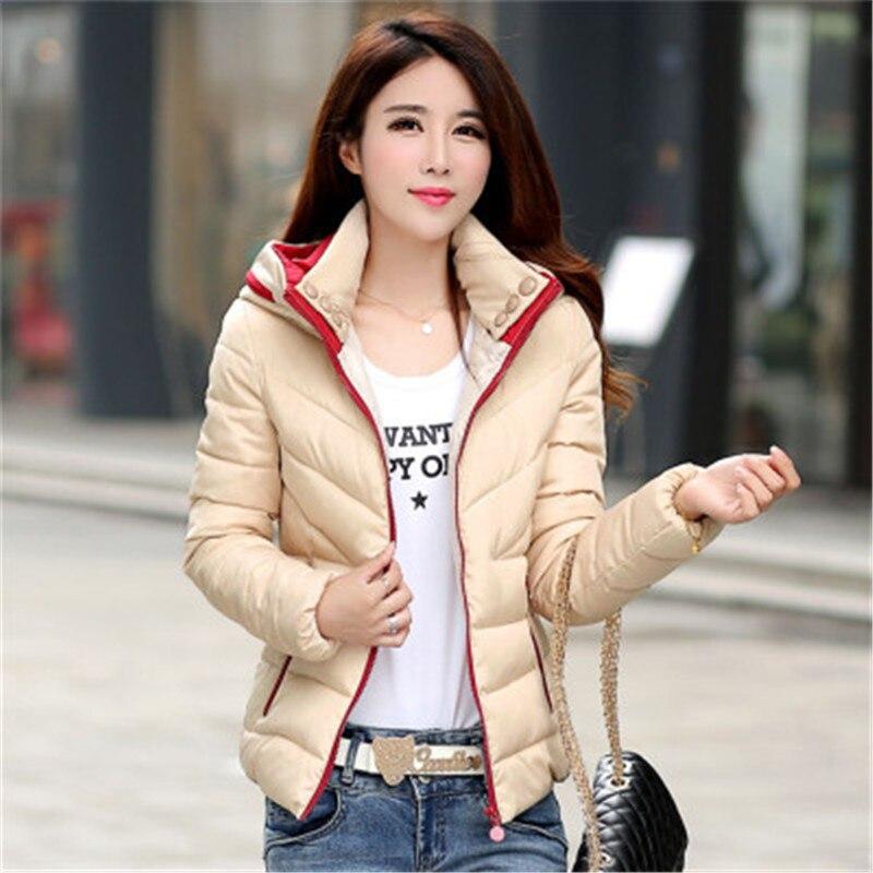 Winter Jacket Women Warm Short Coat Women Jacket Hooded Long Sleeve Female Coat Vestidos