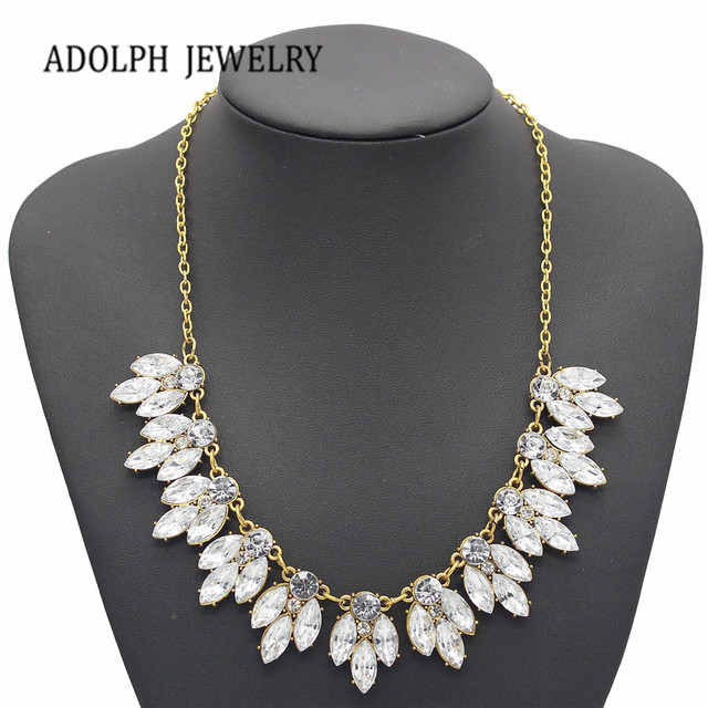 ADOLPH Jewelry Sale 2015 New Arrival Vintage Jewelry Crystal Flower Chokers Necklace Necklaces & Pendants  Woman Gift NJ-022