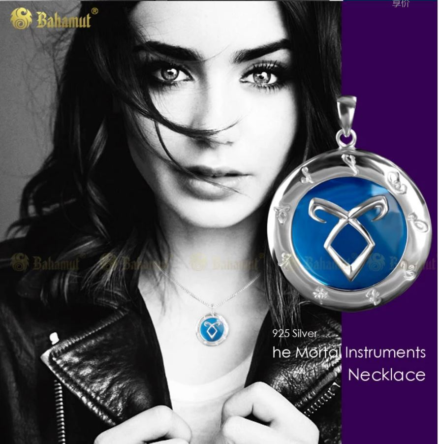 The Mortal Instruments: City of Bones Angelic Power 925 Silver Necklace Pendant Silver Jewelry With Gift Box High Quality