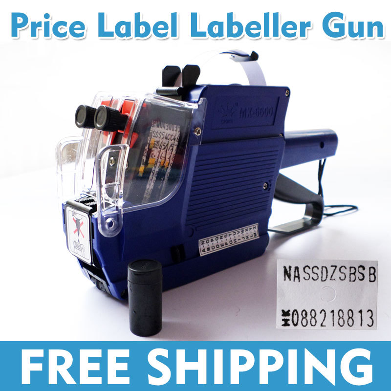 New 2 Line Price Label Labeller Tag Gun Retail Store Pricing Tag Display MX6600 English Letter  Pricing Machine Free Shipping