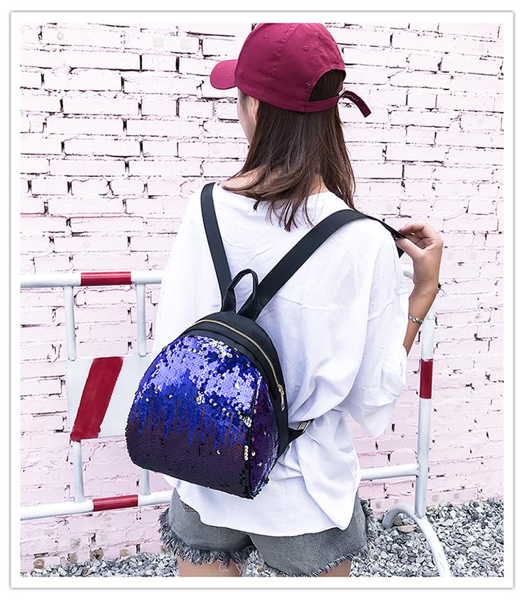 Backpacks women Korean mini 2018 new sequined shell fashion trend women go with small backpacks travel backpack 90