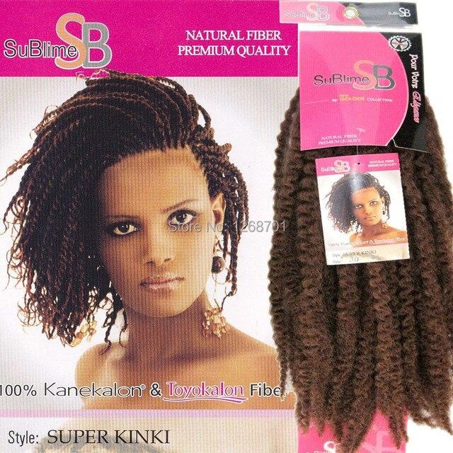 Free Shipping 100 Kanekalon Fiber Afro Kinky Braids Supler Kinki
