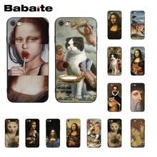 Babaite Leonardo da Vinci Mona Lisa Pat Cat Art Aesthetics PhoneCase for iphone 11 Pro 11Pro Max 8 7 6 6S Plus X XS MAX 5S SE XR