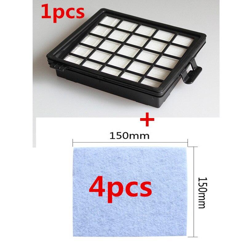 1Pcs vacuum cleaner filter 4Pcs motor protection filter for Philips FC8140 FC8142 FC8144 FC8146 FC8147 FC8148