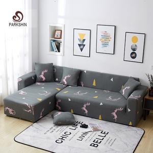 Image 1 - Parkshin Deer Slipcover Stretch Sofa Covers Furniture Protector Polyester Loveseat Couch Cover Sofa Towel 1/2/3/4 seater