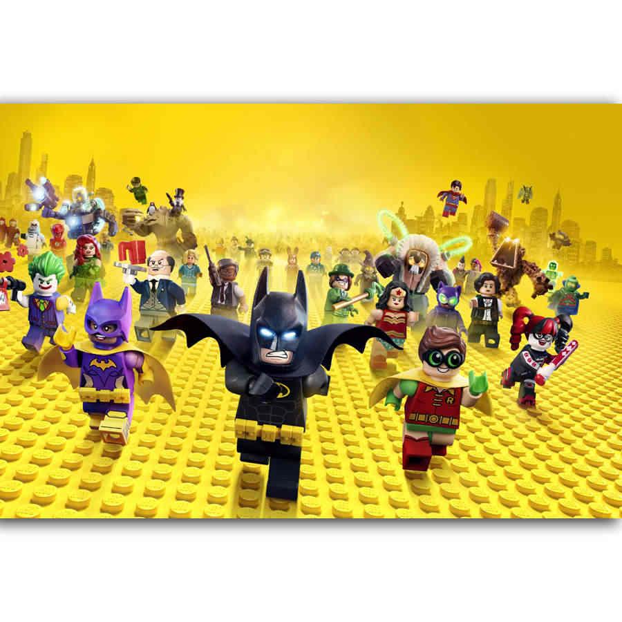 MQ2632 The Batman Lego DC Comic Marvel Cartoon Movie Superheros Hot Art Poster Top Silk Canvas Home Decor Picture Wall Printings
