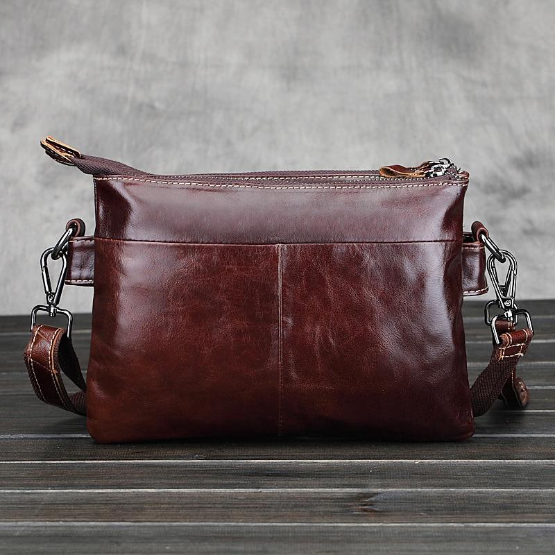 retro briefcase crossbody sacolas de Material Principal : Couro Genuíno