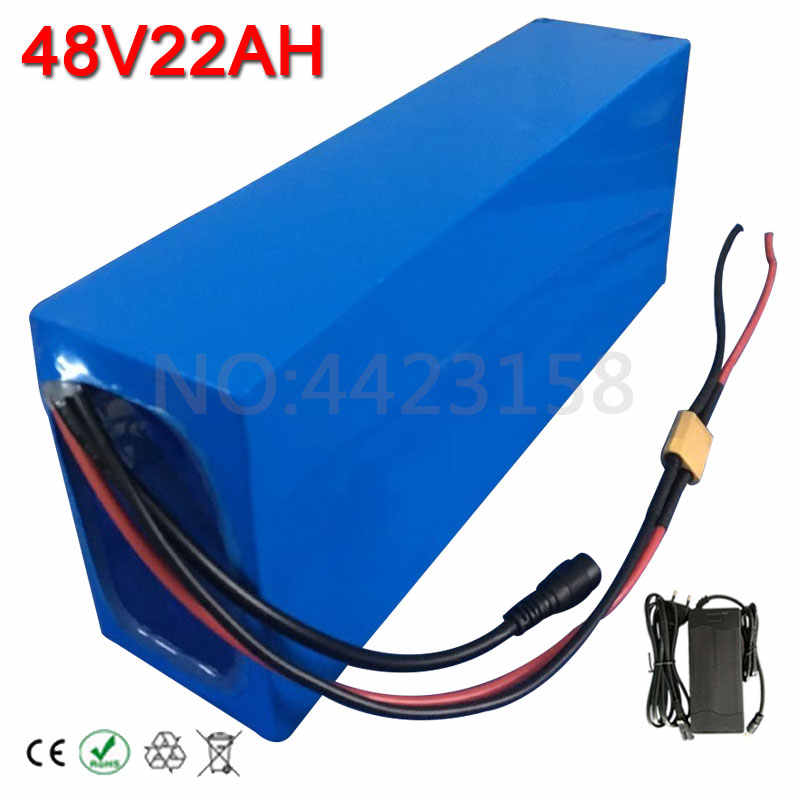 1500W 2000W 48V Li-ion Battery Pack 48V 22AH Scooter battery With PVC case 48 V Ebike Battery 22AH with 50A BMS 54.6V 2A Charger