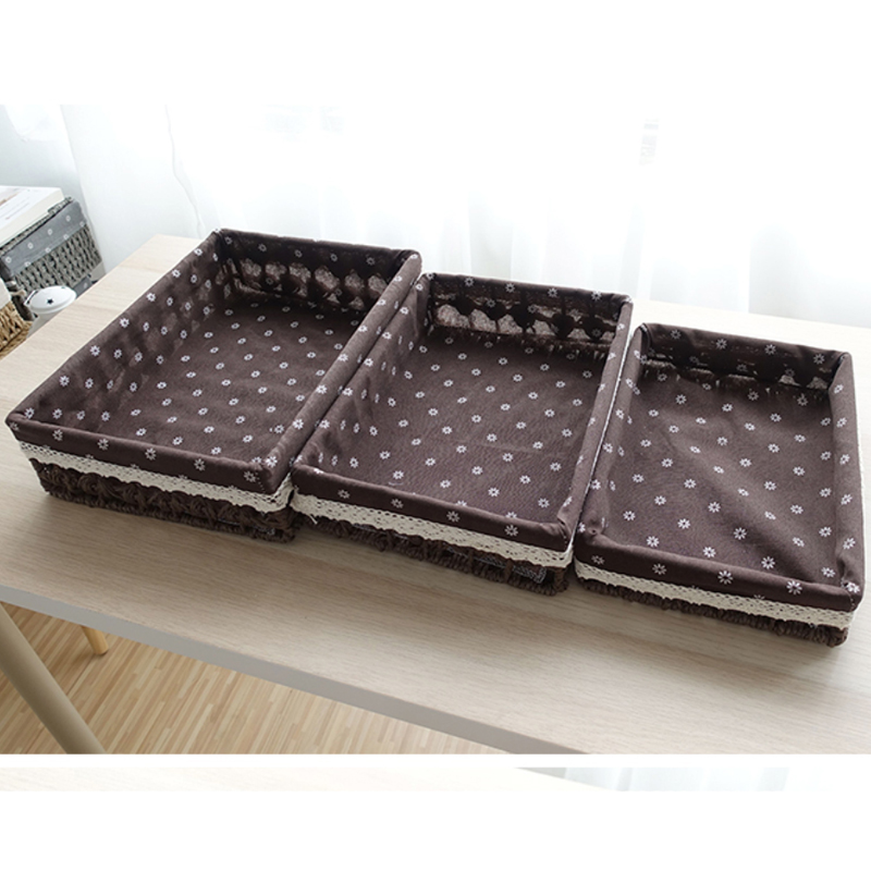 Storage Baskets Rectangle bins for clothes toys small large storage basket fabric cestas mimbre opbergen speelgoed banneton gift in Storage Baskets from Home Garden
