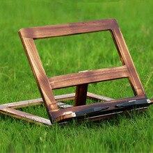 Легкая складная деревянная сосновая рамка для чтения Книжная Полка Подставка для чтения Держатель для планшетных компьютеров подставка для настольного рисования мольберт