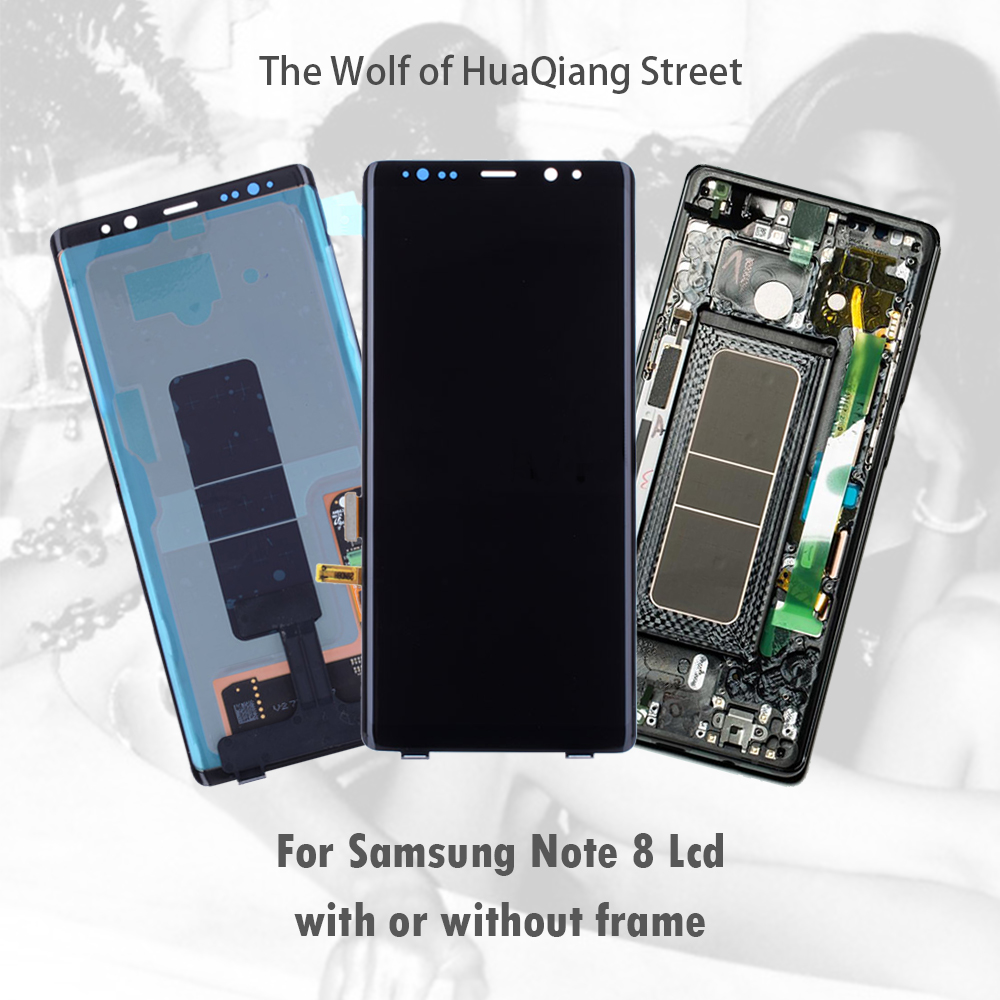 AAA Original <font><b>Lcd</b></font> Touch Screen for <font><b>Samsung</b></font> Galaxy <font><b>Note</b></font> <font><b>8</b></font> <font><b>lcd</b></font> N9500 <font><b>Display</b></font> Digitizer Replacement note8 with or without frame image