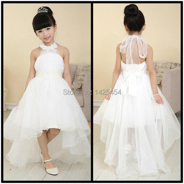 Rf006 envío gratis vestidos de niña para la boda elegante escote ...