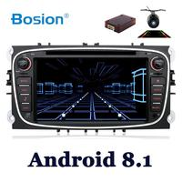 quad core android 8.1 car dvd for Ford focus Mondeo S max smax Kuga c max gps intelligent radio video wifi BT multimedia player