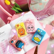 Korea Cute Cartoon Animal Two-pack Case For Glasses Contact Lenses Case 4 Color Contact Lenses Creative Beauty Contact Lens Case contact