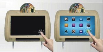 Wholesale 2pcs lot 9 Inch Digital Touch Screen Car Headrest DVD Player HD font b Monitor