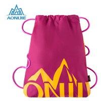 AONIJIE Gym Bags Kids School Drawstring Book Bag Sports Running Swimming Backpack Man Women Harajuku Nylon