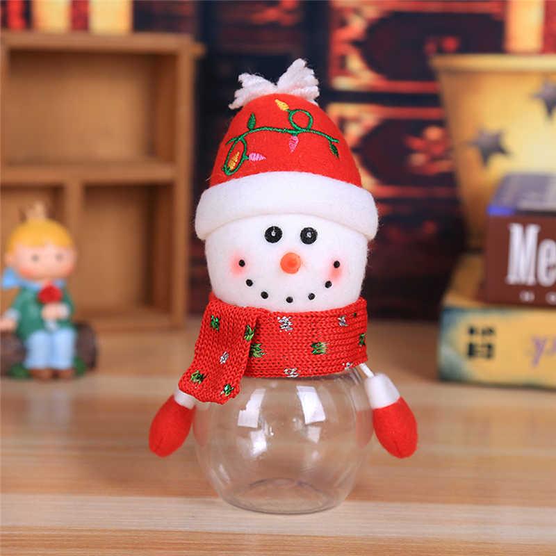 2018 Hot Child Kids Christmas Candy Jar Storage Bottle Santa Bag Sweet Christmas Box Gif free shipping #2n1 (6)