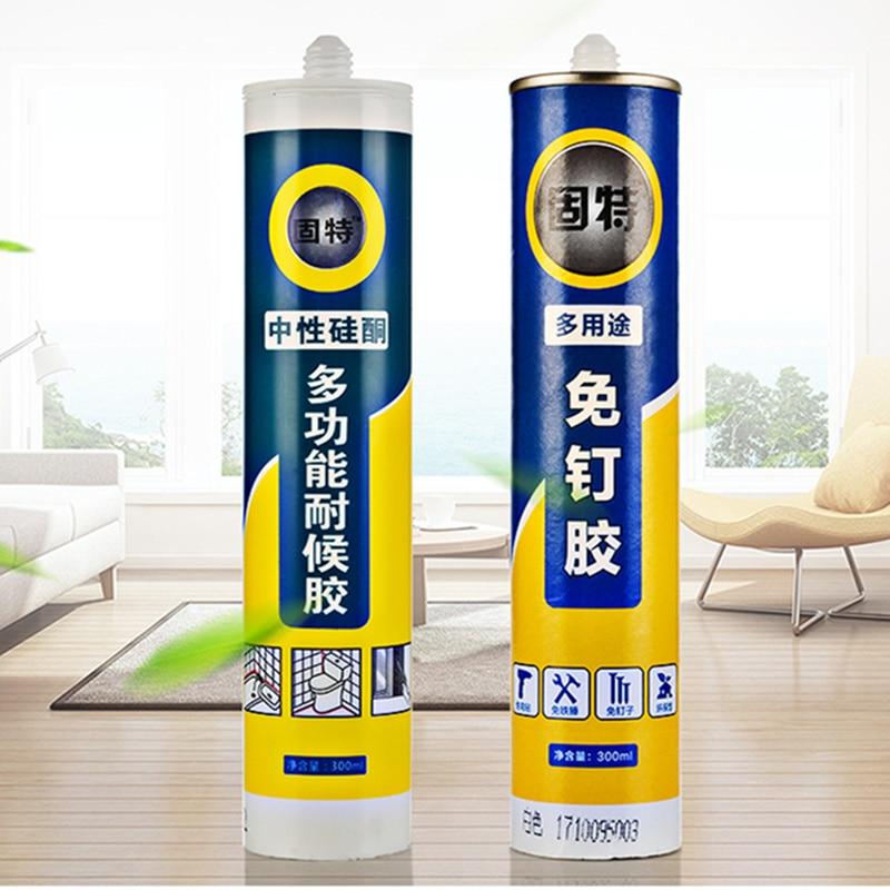 1 PCS 300ML Fast Drying Nail Free Epoxy Resin Super Glass Glue Sealant For Mirror Floor Glass Repair Bonding Kitchen Silicone hireko fast setting shafting epoxy