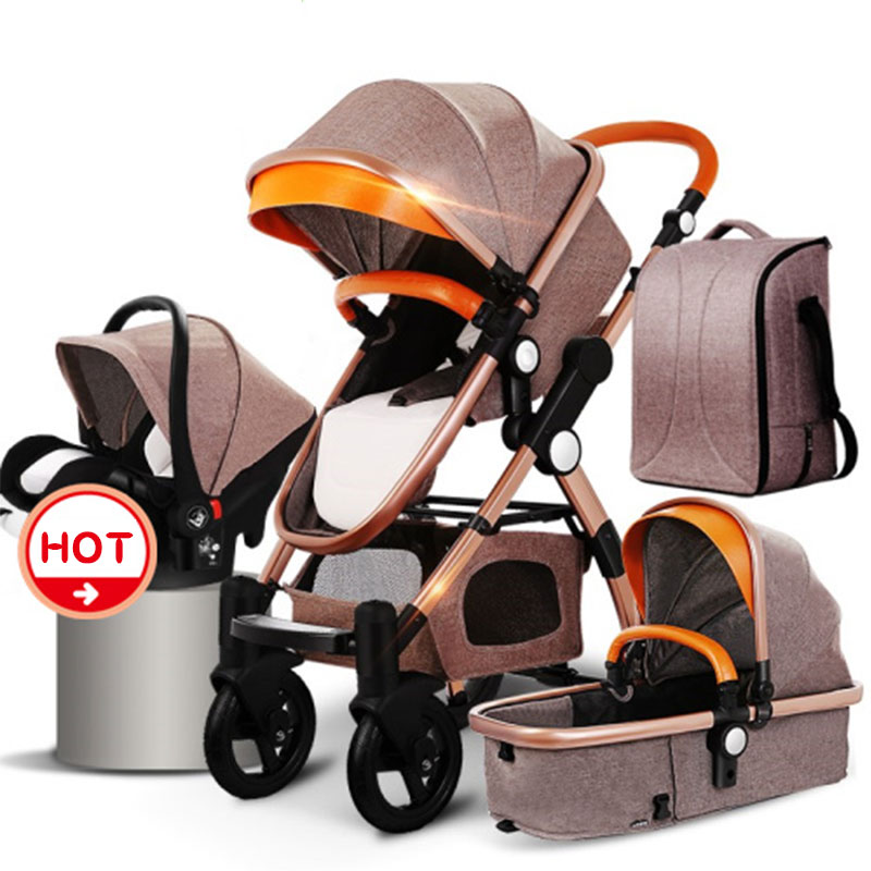 Fst shipping !HJBB 4 in 1 baby stroller  high landscape stroller  baby can sit reclining folding  with Comfortable car seat Fst shipping !HJBB 4 in 1 baby stroller  high landscape stroller  baby can sit reclining folding  with Comfortable car seat