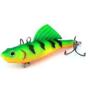 Image 3 - 1Pcs 16.5g 6.5cm VIB Fishing Soft Silicone Lead Lure Bait Wobbler Artificial Sinking Soft Bait 3D eye Winter Sea Fishing