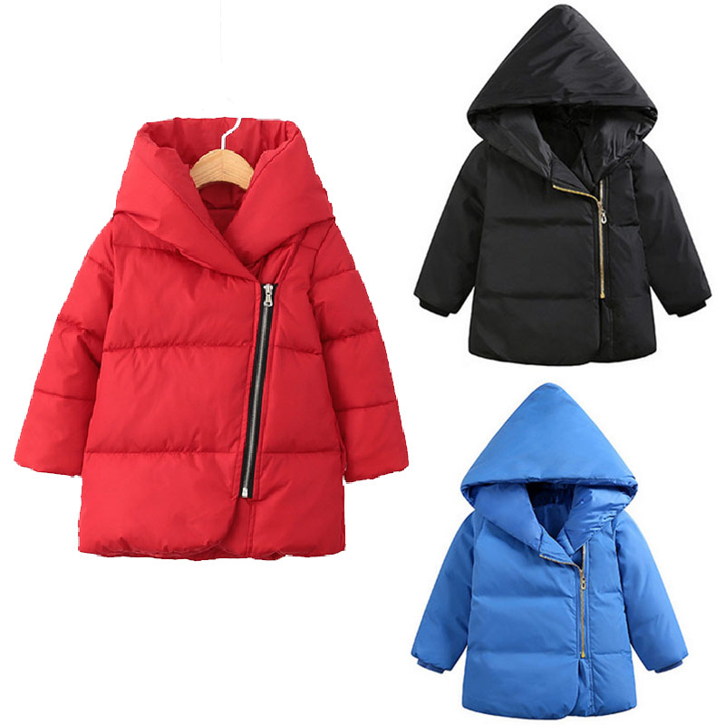 White Duck Down Girl Winter Coat Thick  Down jackets Parkas Solid Boys Winter Jacket Baby Kids Girl Long Outerwear Children Coat