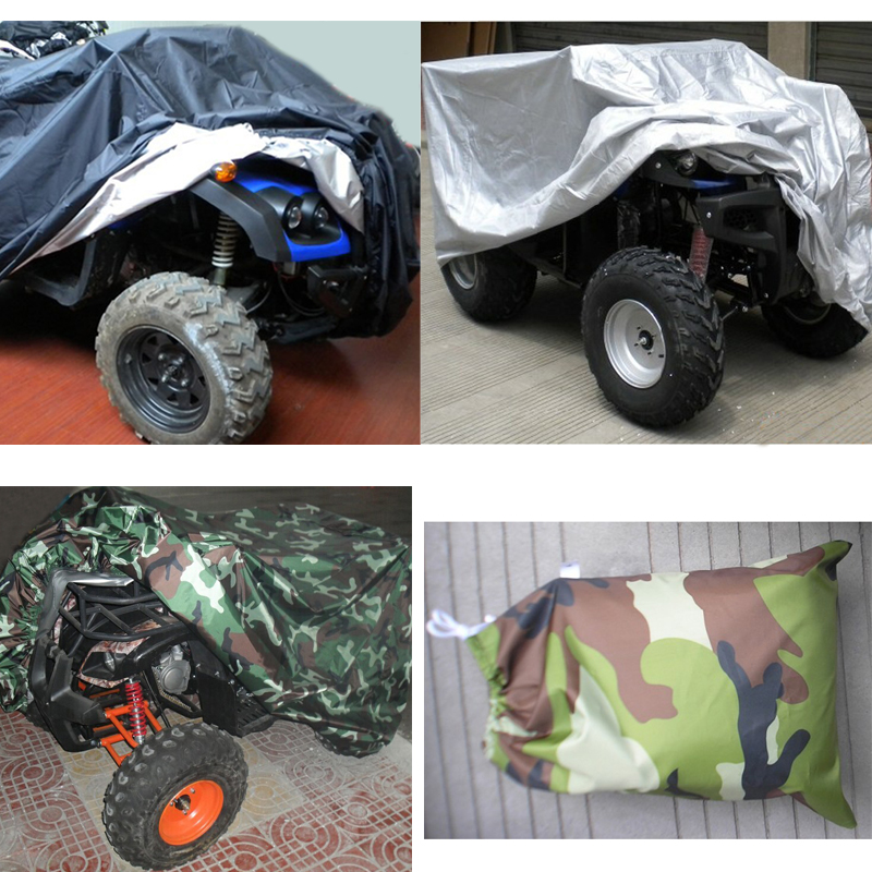L Waterproof ATV Cover Universal For Polaris Honda Yamaha Can-Am Suzuki Camo USA