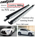 Espesar corriendo de lado paso nerf bar para LEXUS NX NX200T NX300h 2015-2018 de carga de 300 kg. de famoso productor recomendado