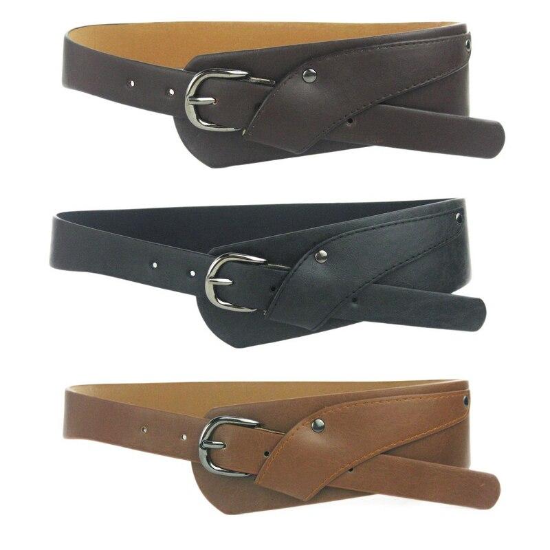 10PCS/LOT SINGYOU Belt For Women Summer Dress Fashion Luxury Design Oblique Buckle Wide Belt Cross Body Women Cummerbund