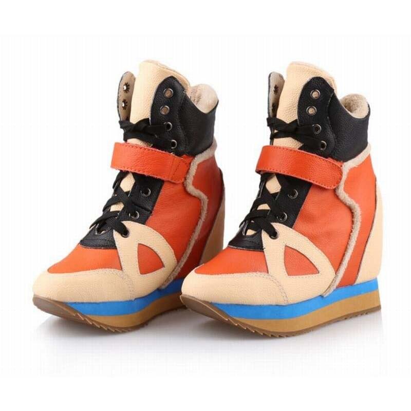 Лидер продаж Для женщин Высокие каблуки Сапоги для верховой езды увеличивающие рост Невидимый Ботильоны с клинообразным каблуком Пояса из