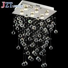 J best price mordern lamp Stair K9 Crystal Chandelier Villa Luxury Hotel fashion Stair ceiling light LED Long Droplight