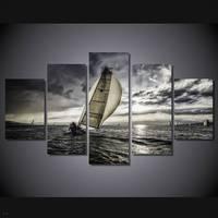 Hdプリント海セーリング雲絵画キャンバスプリントルームの装飾プリントポスター画像キャンバス