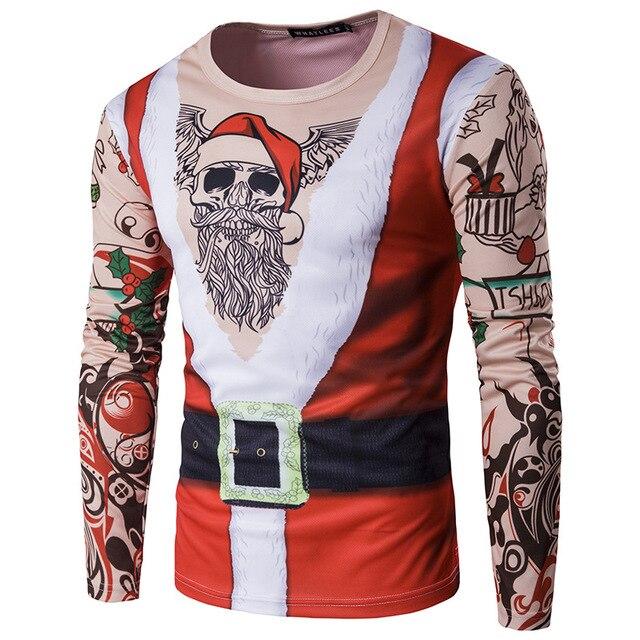 443284414acd97 Gefälschte Anzug Muster 3D T Hemd Männer 2018 Marke Neue Lange Hülse O Neck Lustige  T