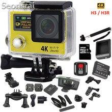 Новый 4 К WiFi Действий Камеры с 2.4 Г Пульт Дистанционного Управления Ультра HD 2.0 «170D Шлем Cam Go Водонепроницаемый Pro Камеры H3 H3R Спорта Видео Камеры