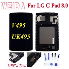 цена на WEIDA LCD Replacement 8 For LG G Pad 8.0 V495 LCD Display Touch Screen Assembly Frame 800*1280 UK495 V496 LD080WX2(SM)(C1)  USA