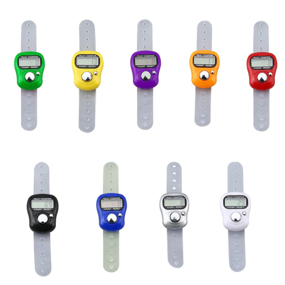 1pc Creative Stitch Marker Row Counter LCD Electronic Digit Finger Ring Digital Tally Counter Clicker Timer(China)