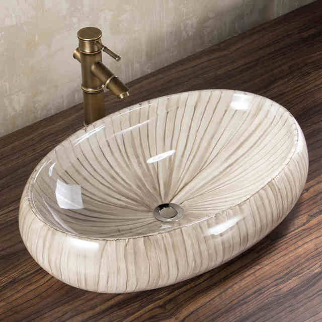 Ovale Bagno Guardaroba porcellana lavabo lavandino in ceramica ...