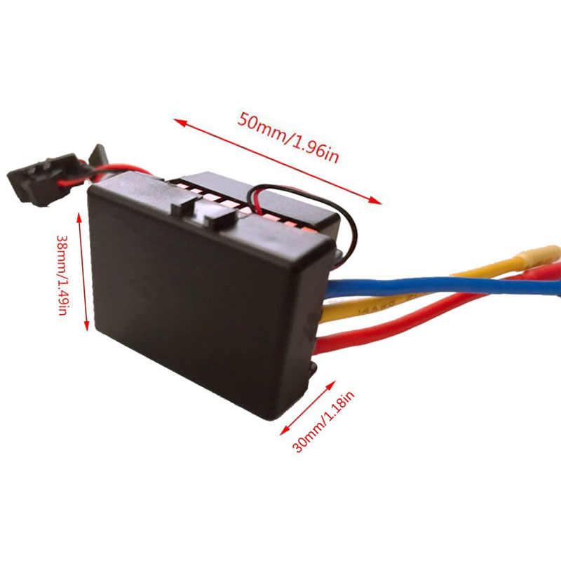 A prueba de agua 60A Rc sin escobillas Esc Bec coche piezas controlador eléctrico de velocidad con 5,8 V 3A Bec para 1/10 Rc coche camión