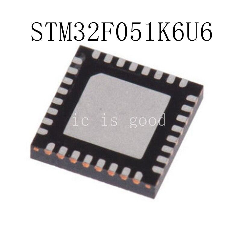 10PCS LOT STM32F051K6U6 F051K66 QFN 32 NEW