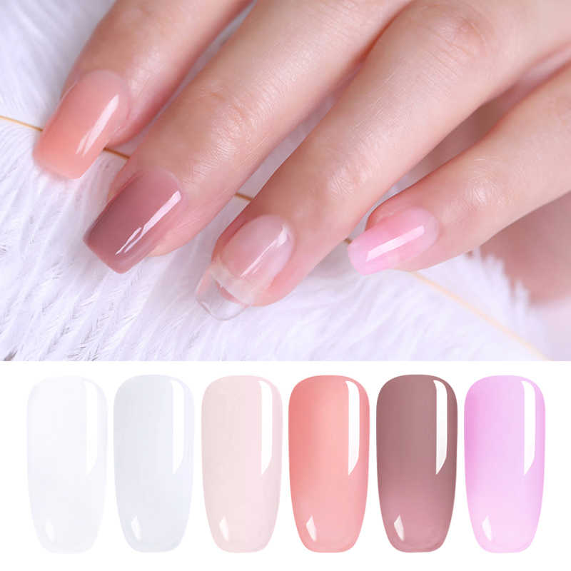 UR SUIKER 8 ml Acryl Poly Nail Gel Roze Wit Clear Crystal LED Builder UV Gel Tips Quick Extension Gel lak