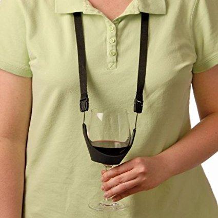 Party Time wijnproeverij Hand gratis wijnglas Lanyard ketting - Set - Keuken, eetkamer en bar