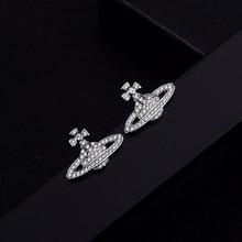 S925 Silver pin earrings,Fashion Jewelry Stud Earrings,Earth earrings. Planet