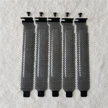 100 pçs/lote computador caso chassis pci ventilação defletor resfriamento dustproof capa com scews preto/vermelho