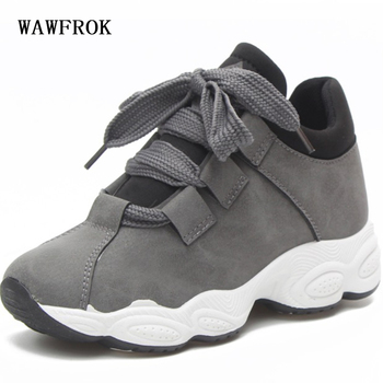 WAWFROK Women Casual Shoes 2018 Summer Spring Breathable Women Sneakers Fashion Lace-Up Ultralight Flats