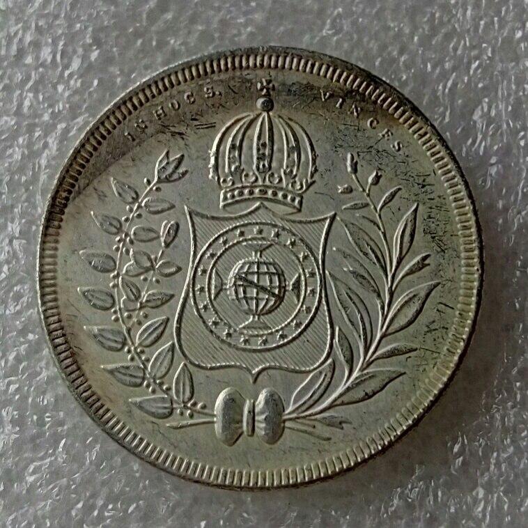 Бразилия 400 Reis 1844 Серебряный империи Pedro II копирования монеты