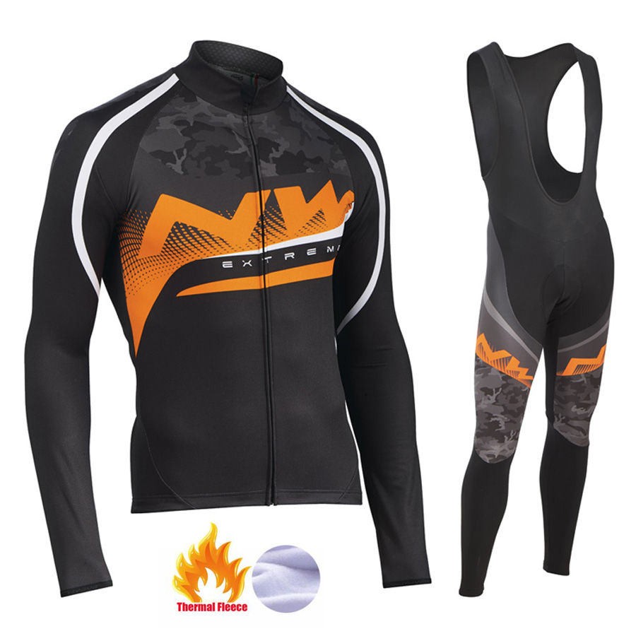NW 2019 Winter thermal fleece Cycling Clothes Northwave mens Jersey suit thick riding bike MTB clothing warm setNW 2019 Winter thermal fleece Cycling Clothes Northwave mens Jersey suit thick riding bike MTB clothing warm set
