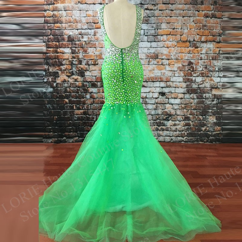 beaded-petite-lime-green-evening-dress